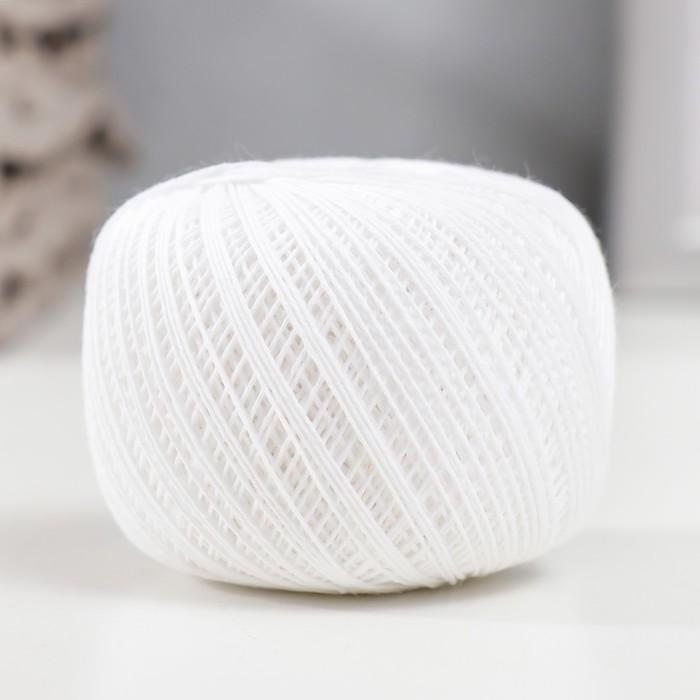 """Нитки вязальные """"Снежинка"""" 230м/25гр 100% хлопок цвет белый"""
