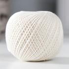 """Нитки вязальные """"Ирис"""" 150м/25гр 100% мерсеризованный хлопок цвет 0102"""