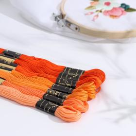 "A set of thread floss ""Tsvetik-Semitsvetik"", 10 ± 1 m, 7 pcs, color orange spectrum."