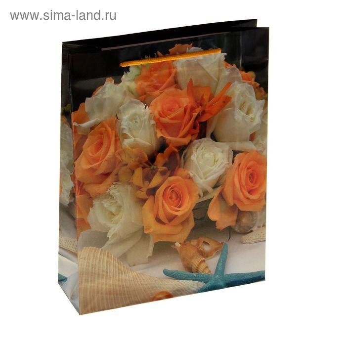 """Пакет ламинированный """"Оранжевые розы"""""""