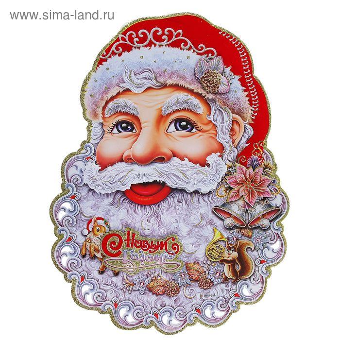"""Плакат """"Кружевной Дед Мороз"""""""