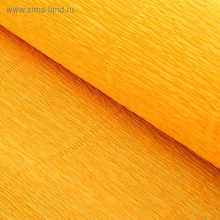 Бумага гофрированная, 576 светло-оранжевая, 0,5 х 2,5 м