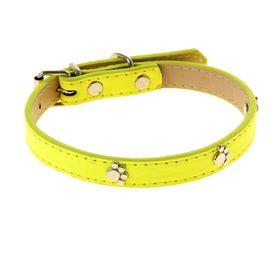 """Ошейник """"Неон"""" с лапками, 40 х 1,5 см, желтый"""