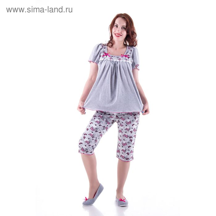 Пижама женская (туника, бриджи) п31 МИКС, р-р 54