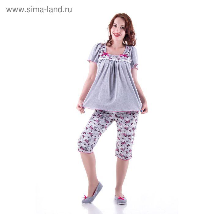 Пижама женская (туника, бриджи) п31 МИКС, р-р 56