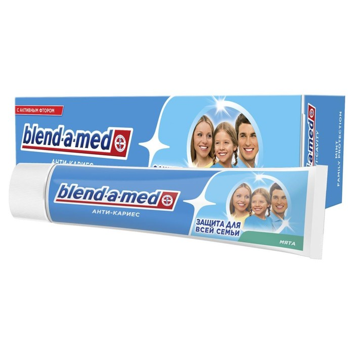"""Зубная паста Blend-a-med """"Анти-Кариес Мята"""", 100 мл - фото 7442687"""