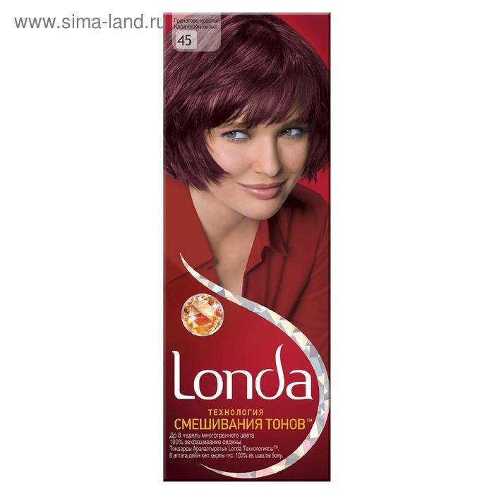 Стойкая крем-краска для волос LONDA, тон 45, гранатово-красный