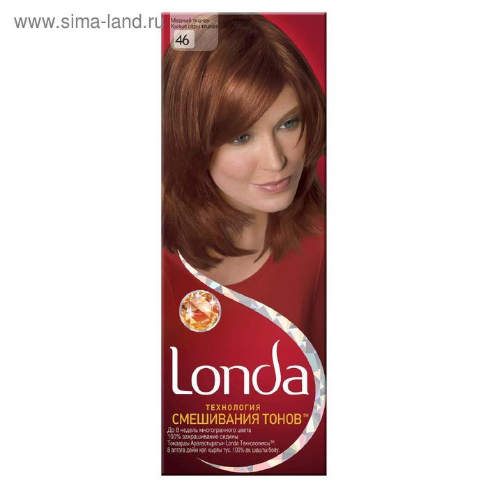 Стойкая крем-краска для волос LONDA, тон 46, медный тициан