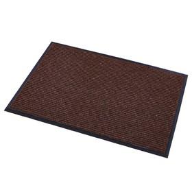 Коврик придверный влаговпитывающий, ребристый, «Стандарт», 60×90 см, цвет коричневый - фото 4657172