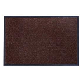 Коврик придверный влаговпитывающий, ребристый, «Стандарт», 60×90 см, цвет коричневый - фото 4657173
