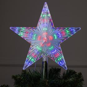 """Фигура """"Звезда белая ёлочная"""" 22Х22 см, пластик, 30 LED, 240V МУЛЬТИ, шнур 2 метра"""