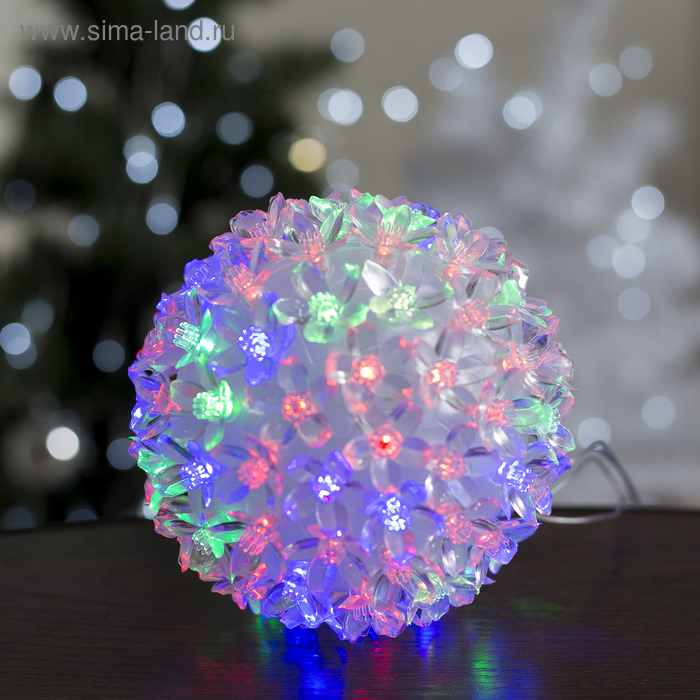 "Фигура ""Шар из цветов"" 15х15 см, пластик, 100 LED, 240V RG/RB"