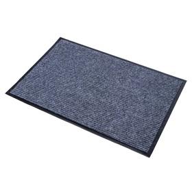 Коврик придверный влаговпитывающий, ребристый, «Стандарт», 60×90 см, цвет серый - фото 4657429