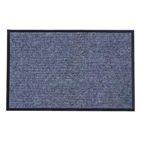 Коврик придверный влаговпитывающий, ребристый, «Стандарт», 60×90 см, цвет серый - фото 4657430