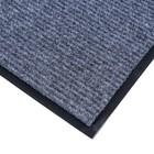 Коврик придверный влаговпитывающий, ребристый, «Стандарт», 60×90 см, цвет серый - фото 4657432