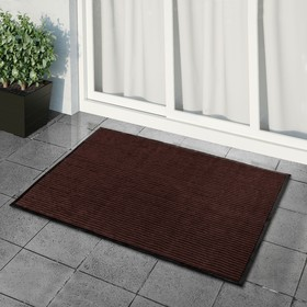 Коврик придверный влаговпитывающий, ребристый, «Стандарт», 120×150 см, цвет коричневый