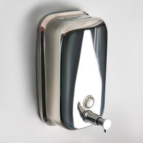 Диспенсер для жидкого мыла настенный Accoona A182, 800 мл, металл, цвет хром