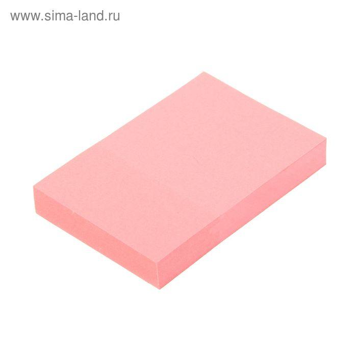 Блок с липким краем 51х76мм 100 листов, розовый