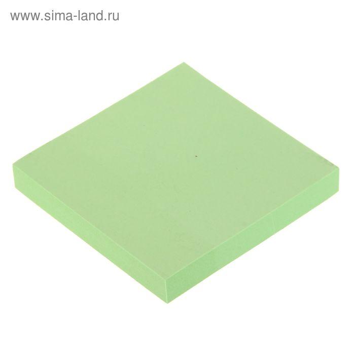 Блок с липким краем 76х76мм 100 листов, зеленый