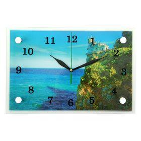 """Часы настенные, серия: Море, """"Замок на краю скалы"""", 20х30  см, микс"""
