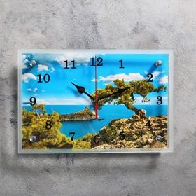 """Часы настенные, серия: Природа, """"Крым, море"""", 20х30  см, микс"""