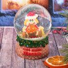 """Сувенир снежный шар """"Чтоб жизнь удалась. Домовенок с икрой"""", d=8 см"""