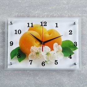 """Часы настенные, серия: Кухня, """"Абрикосы с цветами"""", 25х35  см, микс"""