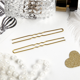 Шпильки для волос 'Золотой цвет' (набор 10 шт.) Ош