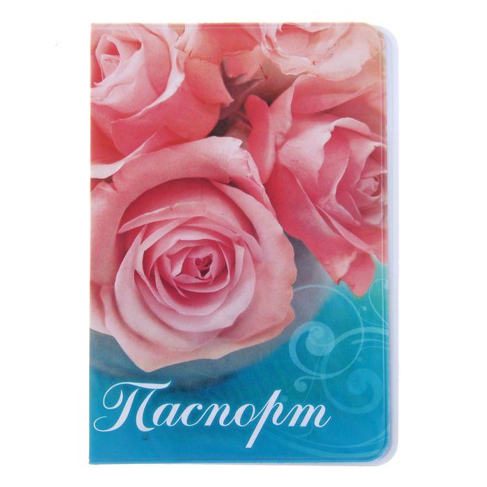 """Обложка для паспорта """"Цветы, розы"""""""