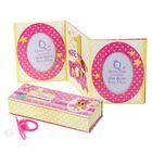"""Набор подарочный для новорожденных """"Мне один год"""": фоторамка-триптих, 3 коробочки для хранения и соска"""