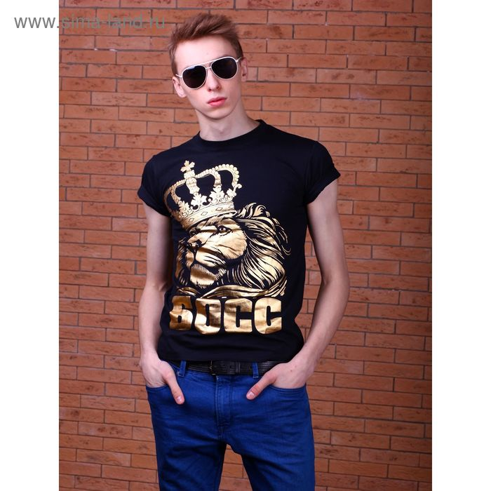 """Футболка мужская Collorista Gold """"Босс"""", размер М (46), 100% хлопок, трикотаж"""