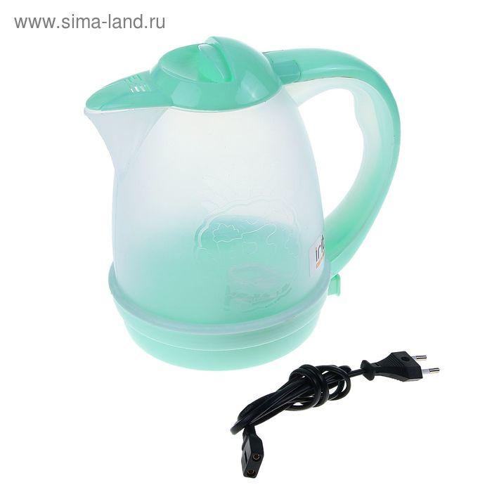Чайник электрический Irit IR-1119, 2.6 л, 600 Вт, зеленый, прозрачный