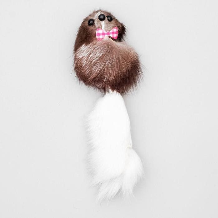 Мышь из натурального меха малая, корпус 5 см, микс цветов - быстрая доставка