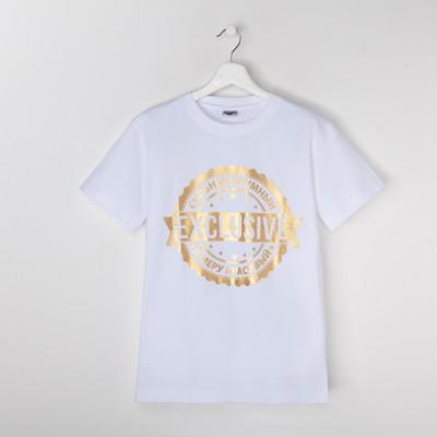 """Футболка мужская Collorista Gold """"Exclusive"""", размер XXL (52), 100% хлопок, трикотаж"""