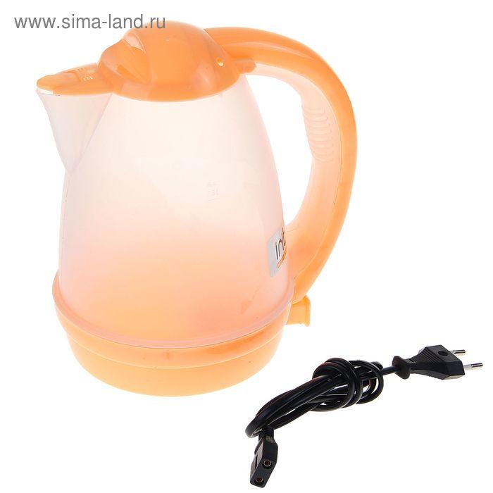 Чайник электрический Irit IR-1118, 1.8 л, 600 Вт, оранжевый, прозрачный