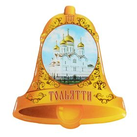 "Magnet with resin fill ""Togliatti. Spaso-Preobrazhensky Cathedral"""