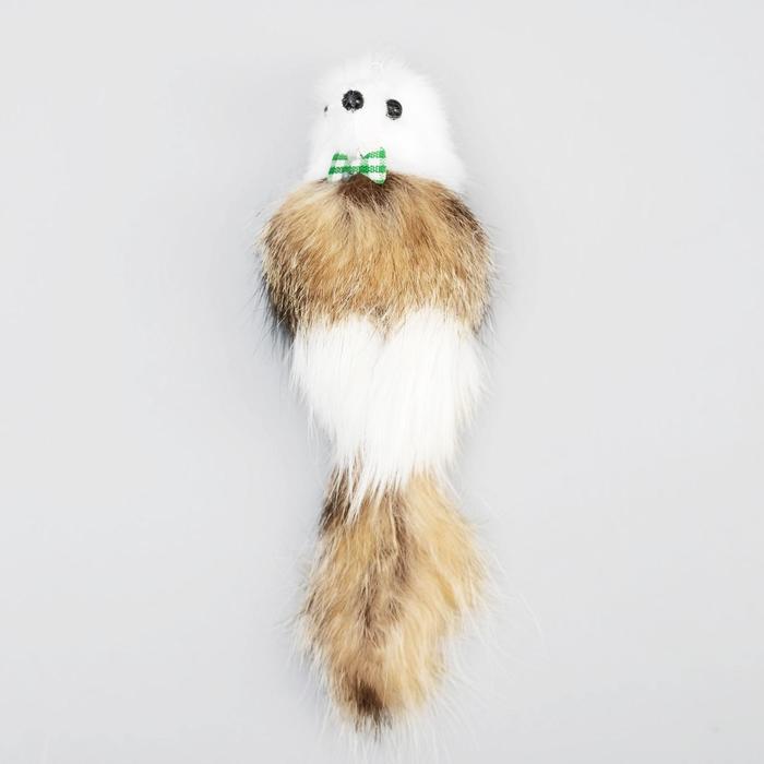 Мышь из натурального меха, корпус 7 см, микс цветов - быстрая доставка