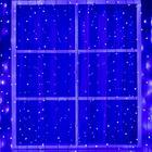 """Гирлянда """"Занавес"""" 2 х 6 м , IP44, УМС, тёмная нить, 1440 LED, свечение фиолетовое, фиксинг, 220 В - фото 1609380"""