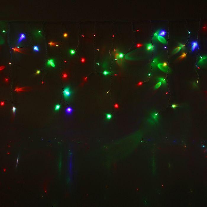 """Гирлянда """"Бахрома"""" улич. УМС, Ш:3 м, В:0,6 м, Н.Б. 3W LED-160-220V, БЕЗ контр. МУЛЬТИ(RGB)"""