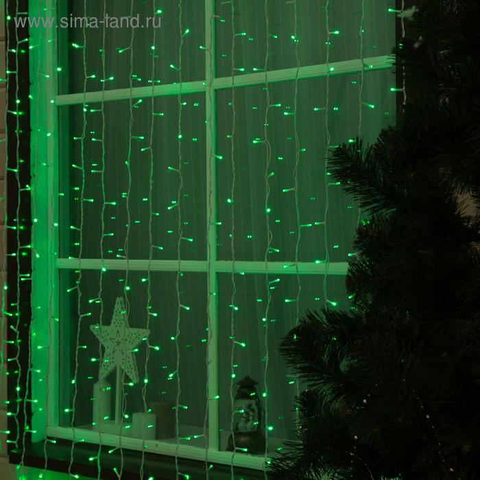 "Гирлянда ""Занавес"" улич. УМС, Ш:2м, В:6м, Н.Б. 2W LED-1440/280-220V, БЕЗ контр. мерц ЗЕЛ"
