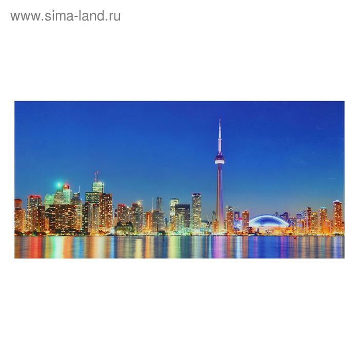 "Картина на стекле ""Берег Торонто"""