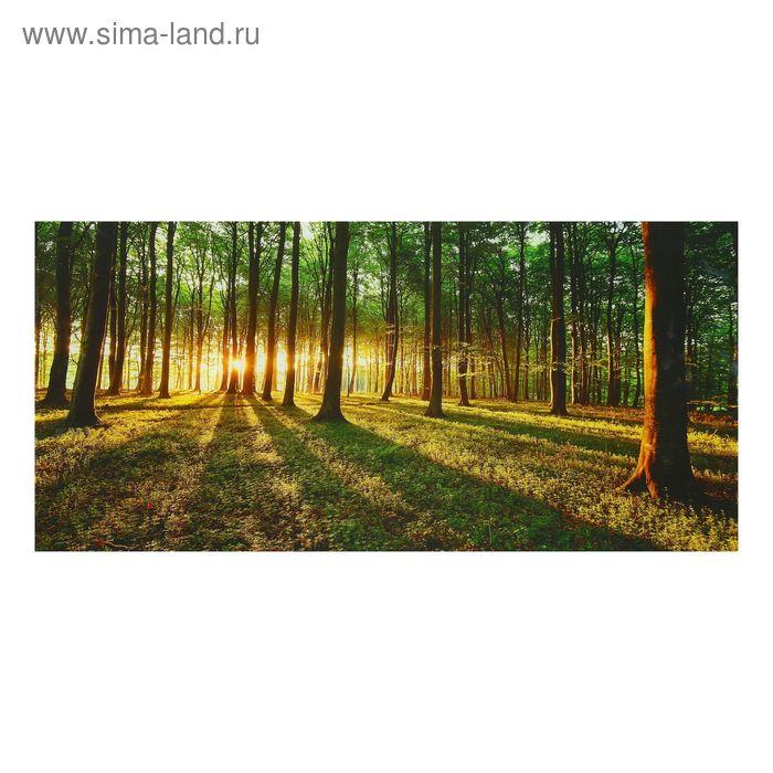 """Картина на стекле """"Солнце в лесу"""""""