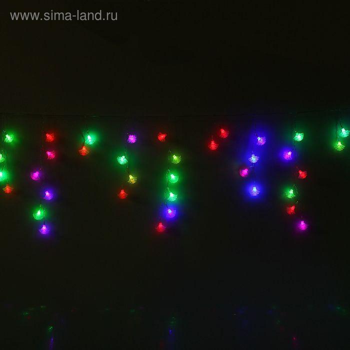 """Гирлянда """"Бахрома"""" Ш:1.4 м, В:0,3 м, Н.С. """"Георгин"""", LED-48-220V, МУЛЬТИ(RG/RB)"""