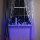 "Гирлянда ""Дождь"" Флаг России УМС вилка, 2 х 3 м, LED-840-220V, 8 режимов, нить прозрачная"