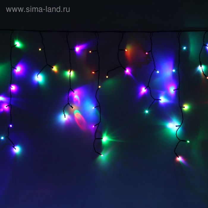 "Гирлянда ""Бахрома"" улич. Ш:1 м, В:0,6 м, Н.Т. LED-60-220V, моргает, МУЛЬТИ(RGB)"