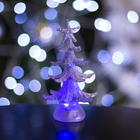 """Игрушка световая """"Новогодняя ёлочка"""" (батарейки в комплекте) 13 см, 1 LED, RGB, СЕРЕБРЯНАЯ"""