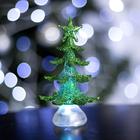 """Игрушка световая """"Новогодняя ёлочка"""" (батарейки в комплекте) 13 см, 1 LED, RGB, ЗЁЛЕНАЯ"""