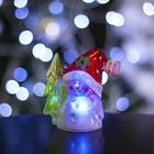 """Игрушка световая """"Снеговик и елка"""" (батарейки в комплекте) 1 LED, RGB"""