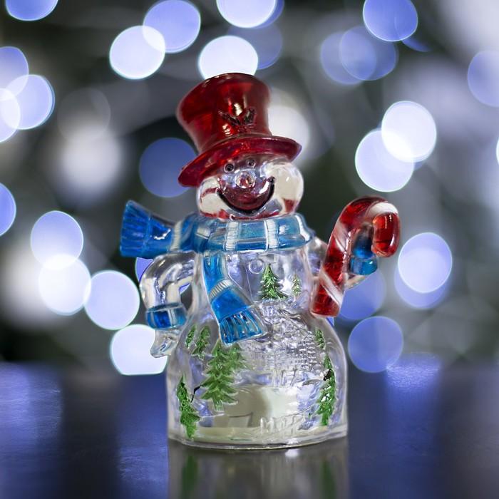 """Игрушка световая """"Снеговик и леденец"""" (батарейки в комплекте) 1 LED, RGB"""