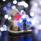 """Фигурка светящаяся """"Новогодний домик"""" 9.5 х 7 х 10.5 см, 4 LED"""